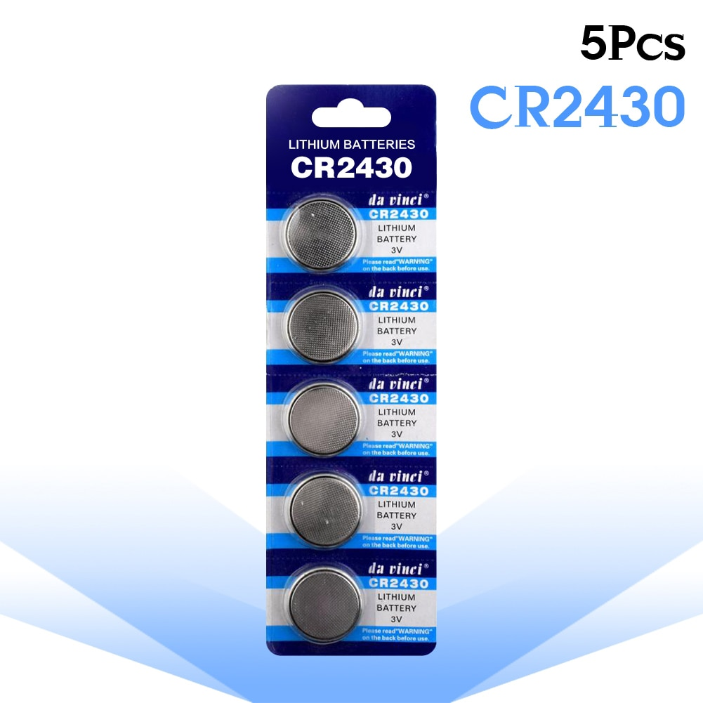 High Quality 5Pcs/Pack CR2430 3Volt Lithium Button Batteries DL2430 BR2430 CR2430 For Digital Voice Recorders Cell Coin Battery