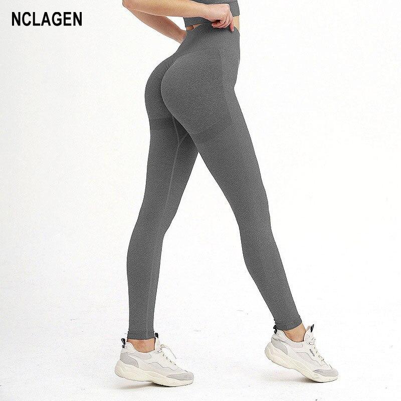 Frauen Yoga Hose Elastische Fitness Nahtlose Sport Leggings Hohe Taille Push-Up Gym Leggings Squat Proof Workout Booty Scrunch Strumpfhosen