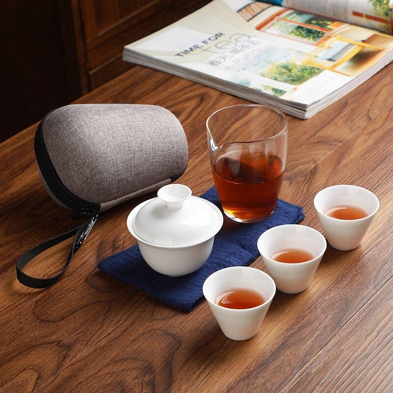 طقم شاي الكونغ فو ، حقيبة حمل ، كوب ، إبريق شاي ، غطاء ، وعاء ، علب شاي ، طقم شاي كونغ فو ، شحن مجاني