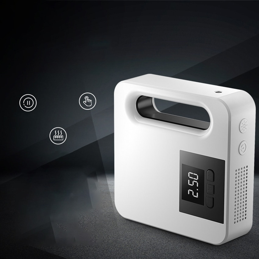 Handheld Air Compressor Tire Inflator, Portable Air Pump for Car Tires 12V DC Auto Tire Pump with Pressure Gauge, LED Light enlarge