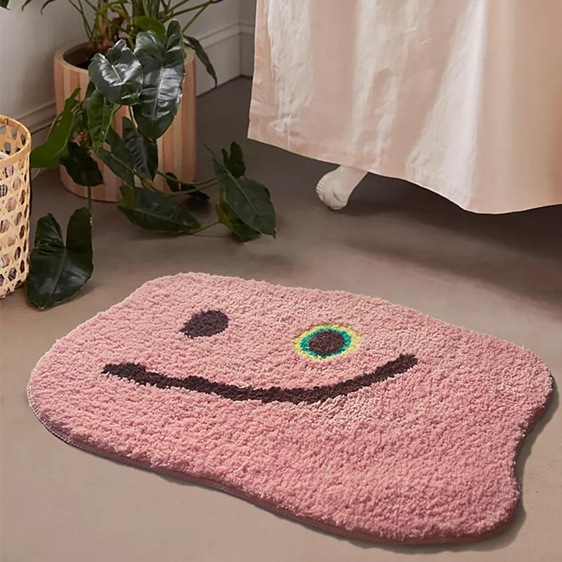 الوردي رقيق الحمام حصيرة الشمال السجاد منطقة البساط حمام غرفة الطابق حوض الجانب الحصير ماصة مكافحة زلة وسادة مستديرة البساط الوردي البساط