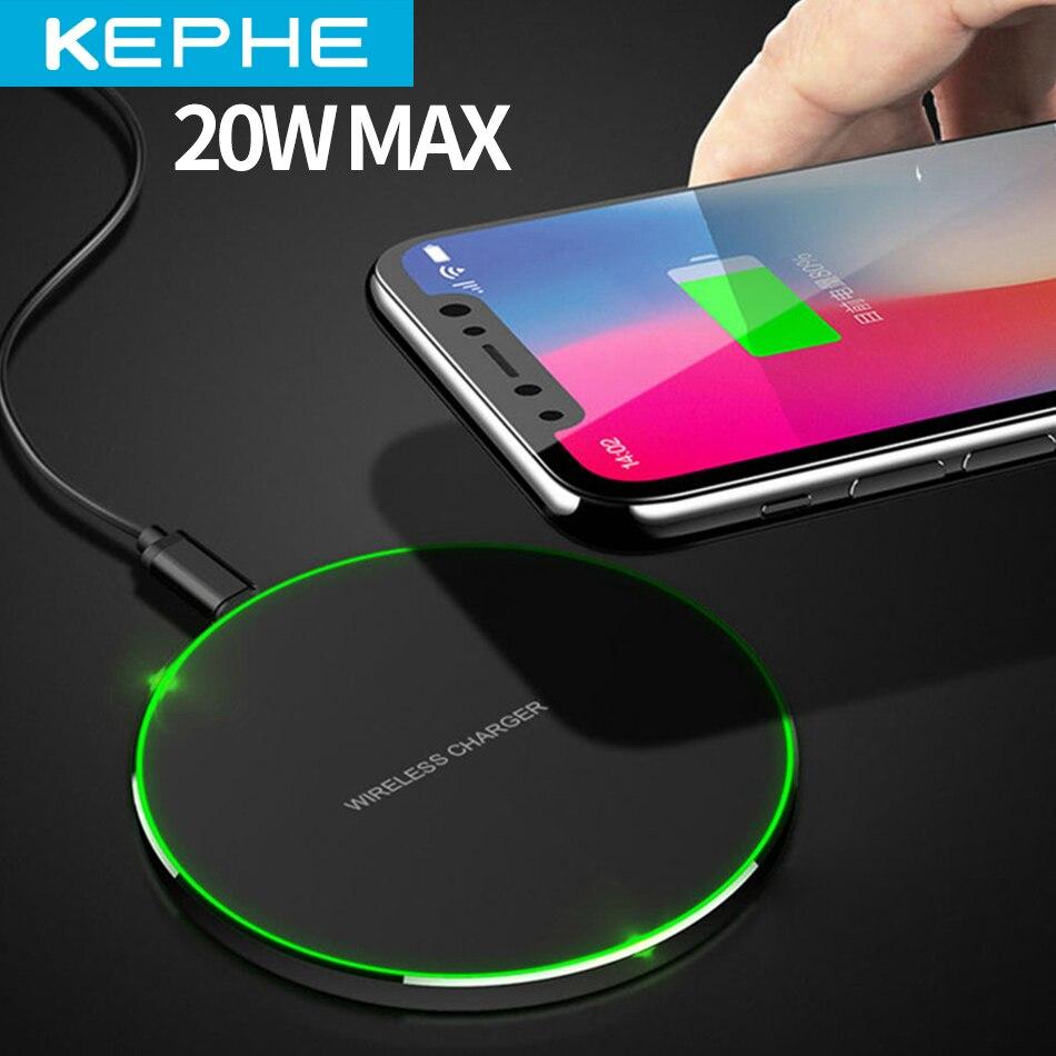 Быстрое беспроводное зарядное устройство KEPHE 20 Вт для Samsung Galaxy S10 S9/S9 + S8 Note 9 USB Qi для зарядки iPhone 11 Pro XS Max XR X 8 Plus