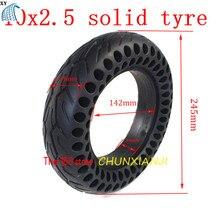 Alta qualidade 10x2.50 duplo favo de mel pneu sólido 10*2.5 sem câmara pneu favo de mel roda pneu para scooter elétrico skate board