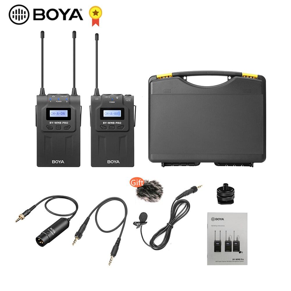 BOYA BY-WM8 Pro-K1 UHF Wireless Mikrofon (Sender + Empfänger) 48 kanäle Mono LCD Display 100M Palette für Canon Nikon Sony