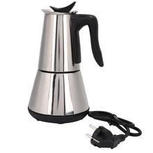 صانع القهوة الكهربائية 6 أكواب/300 مللي 304 الفولاذ المقاوم للصدأ أواني القهوة براد لصنع الموكا موكا ماكينة القهوة فلتر ماكينة الاسبريسو كافتيرا