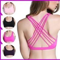 sports bra female push up bra jogging gym female girl underwear fitness running yoga sports top home leisure free shipping