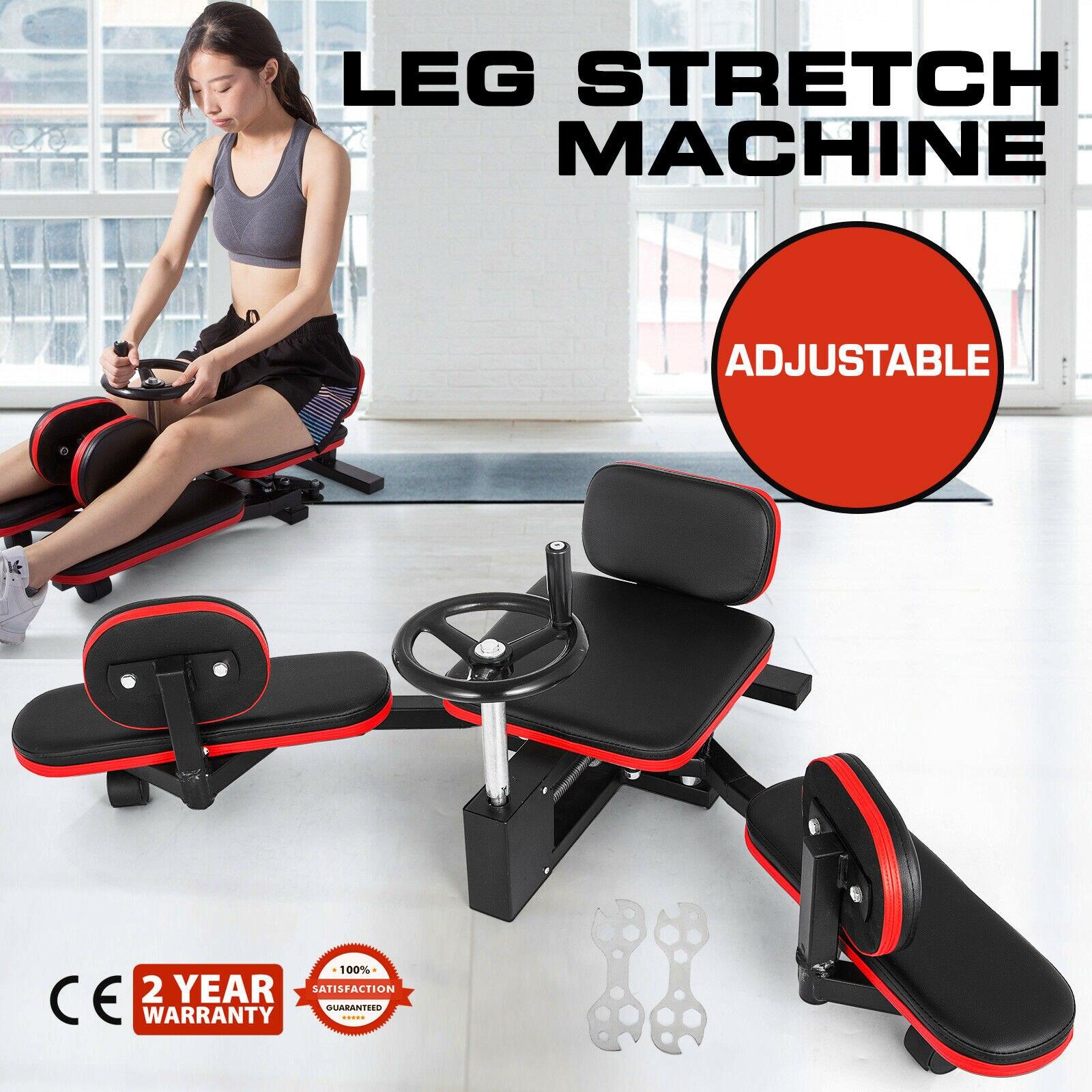 Máquina ensanchadora de muslos para piernas, Fitness, gimnasio, fuerza, flexibilidad, ruedas MMA