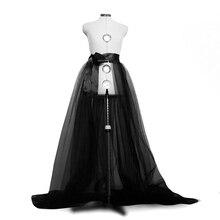 Femmes Tulle Tutu longues jupes de mariage fête de bal Bandage en maille robe Maxi jupe dames Costume été gothique jupe mode 2019 nouveau