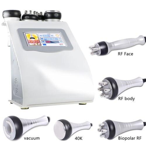 جهاز التجويف بالموجات فوق الصوتية المحمول 5 في 1 RF ، جهاز التخسيس ، شفط الدهون ، العناية بالوجه ، دهون الجسم