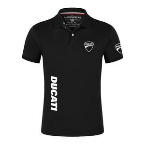 2021 Ducati Car Logo Cotton High Quality Men Polo Shirt Solid Short Sleeves Fashion Casual Shirts Male Sport College Print Tops