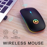 wireless mouse rgb bt computer mouse silent rechargeable ergonomic mause with led backlit usb optical mice for pc laptop