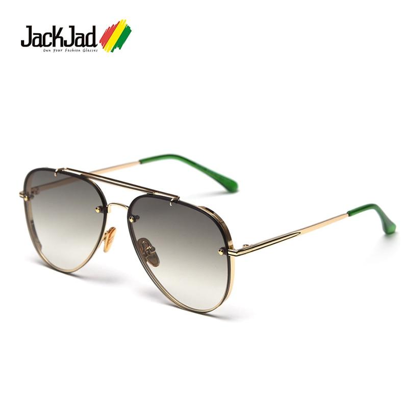 JackJad 2020 Fashion Top Quality Classic Pilot Style Gradient Sunglasses Men Rivet Brand Design Sun