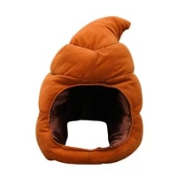 puseky funny shit shape hat poop plush toy head wear cute shits stuffed toys doll joke funny christmas present