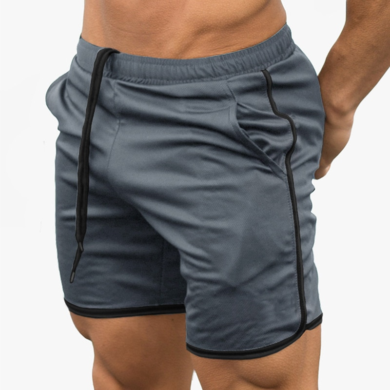 Mens Fitness Running Shorts Men Sport Breathable Quick Drying Training Gym Joggers Soccer