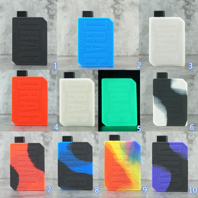10pcs Protective Silicone case for VOOPOO Drag NANO Mod Vape kit texture skin rubber sleeve cover fit   drag nano enlarge