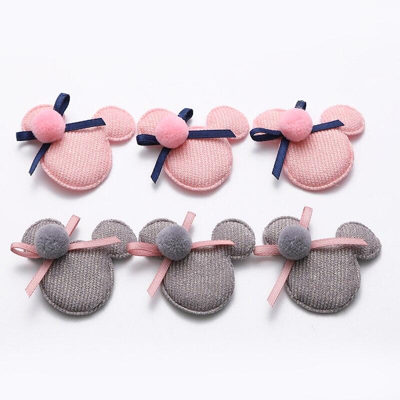 10 pçs/lote Multi estilo Urso Apliques Acolchoadas para Crianças Headwear Acessórios grampo de Cabelo e Acessórios de Vestuário