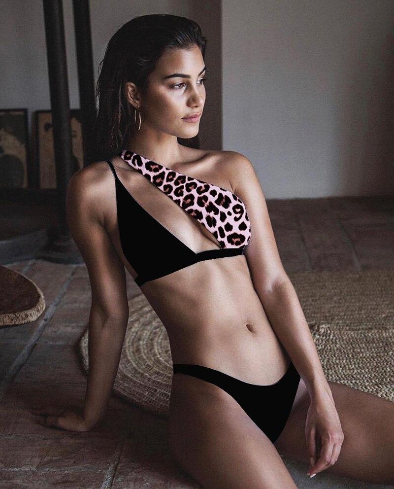 Europe America New Style Sexy One Shoulder 2020 Bikini Set Sexy Swimwear Wholesale Hot Selling Bathing Suit Swim Suit