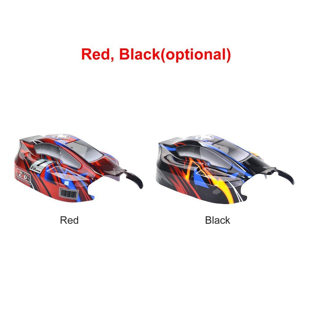 RC On-road Car PVC Shell Body Cover for 1/8 ZD Racing 8459 RC Racing Car Accessories Parts Black/Red enlarge