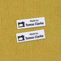 120 pieces ironing labels logo or text personalized brand clothing labels custom design fabric tagsyt197
