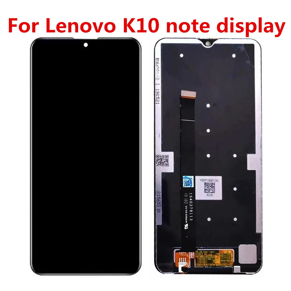 شاشة لمس LCD بديلة ، 6.3 بوصة ، أسود ، لجهاز Lenovo K10 Note K10Note L38111 ، أصلي