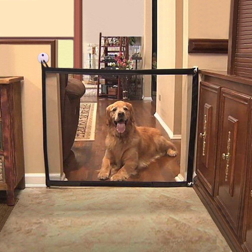 Новые ограждения для домашних животных, портативные складные ограждения с воздухопроницаемой сеткой, ворота с изображением собаки, ограждение для разделения домашних животных, изолированное ограждение для безопасности ребенка