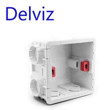 Delviz Wand Schalter BOX Steckdose Kassette, 86mm Kunststoff Materialien, für Standard Wand Licht Schalter EU Standard Interne Mount Box