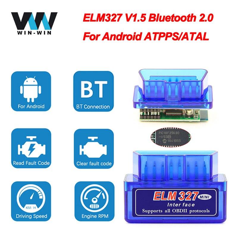 Super Mini ELM 327 V1.5 PIC18F25K80 obd2 Scanner Bluetooth ELM327 V1.5 1.5 OBD 2 OBD2 Car Diagnostic Auto Tool ODB2 Code Reader