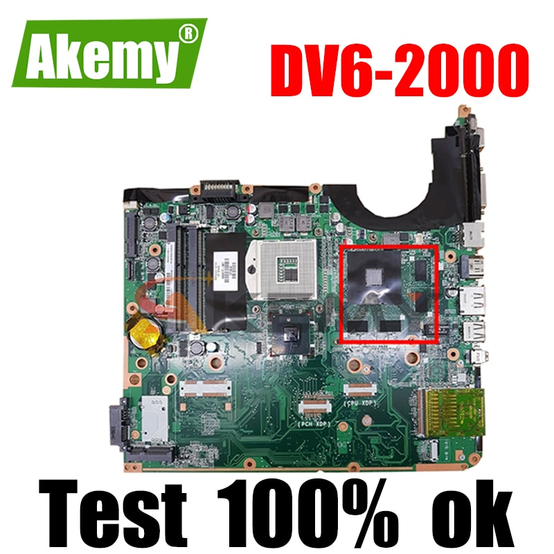 Akemy 605704-001 DA0UP6MB6F0 اللوحة الأم للكمبيوتر المحمول HP بافيليون DV6 DV6T DV6-2000 1GB بطاقة الفيديو DDR3 اللوحة الرئيسية وحدة المعالجة المركزية الحرة