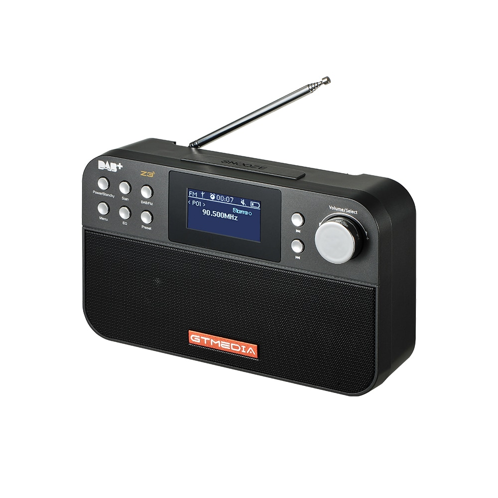GTMEDIA Z3 Portable Digital Radio DAB+FM RDS Multi-band Radio Speaker Stereo 2.4 Inch LCD Display Alarm Clock External Antenna enlarge
