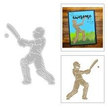 2020 New Hot Men Play Sports Baseball Cap Uniform Bat Circle Ball Motion Metal Cutting Dies and For Scrapbooking Foil No Stamps