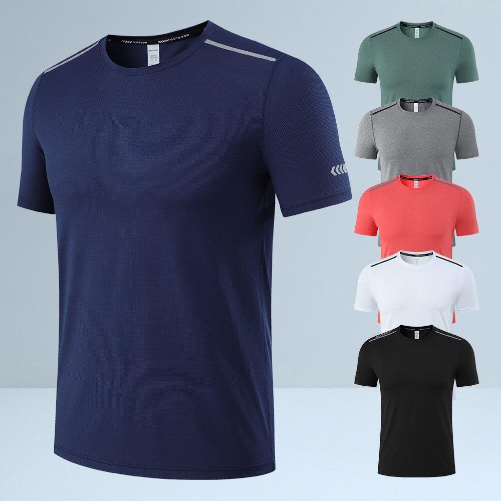 AliExpress - Polyester Fiber Sports Gym T Shirt Quick Dry T-Shirt Men Short Sleeve Fitness Training Shirt Running T Shirt for Men Tops S-5XL