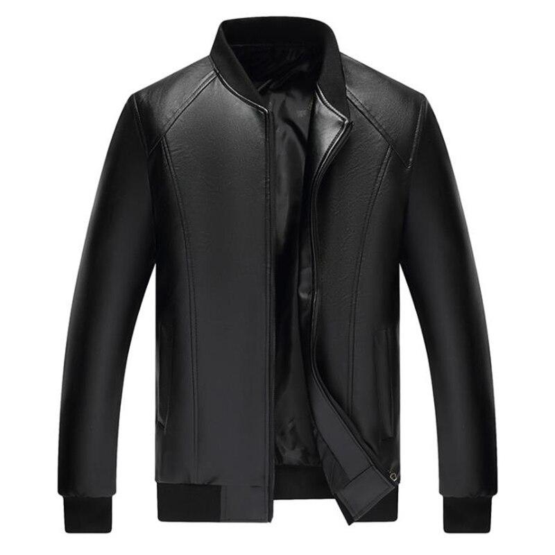 Abrigo ajustado de piel sintética para hombre, chaqueta de piel sintética de...