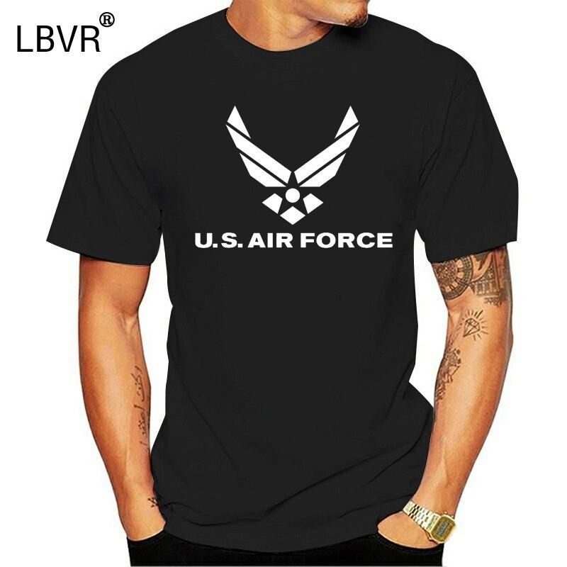 2019 Fashion Cotton T-shirt US Air Force Logo American Military USAF Mens Tee Shirt 1659