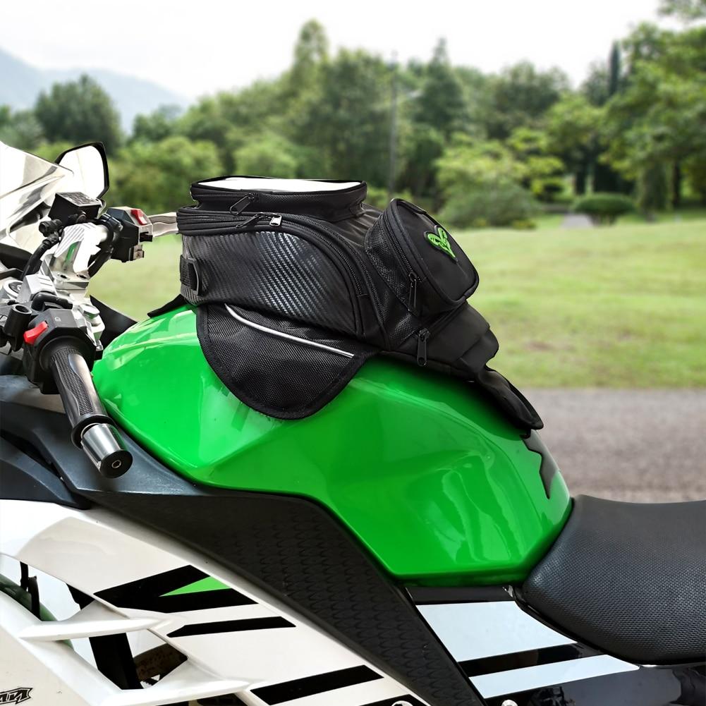 MR CHAOS Motorcycle tank bag Oil Fuel Bag Magnetic moto saddle luggage GPS Phone Bigger Window suitcase