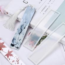 5 pièces Silicone bricolage signet moulage moule bricolage artisanat Silicone moule signet fabrication époxy bijoux fournitures (blanc)