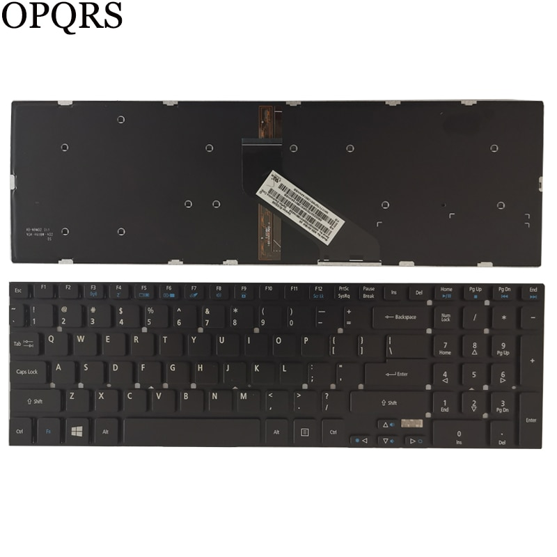 Nuevo teclado de EE.UU. para Acer Aspire E1-522G 5755, 5755, 5830, 5830, 5830, 5830T, T, E1-530G, E1-532G, E1-532P, teclado de ee.uu., retroiluminación negra