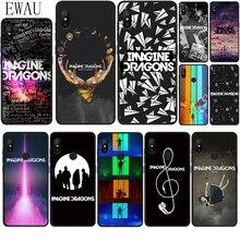 EWAU Imagine Dragons impression de musique étui de téléphone en Silicone pour Xiaomi Redmi Note 4 4X 5 6 7 8 Pro 5A Prime 8T