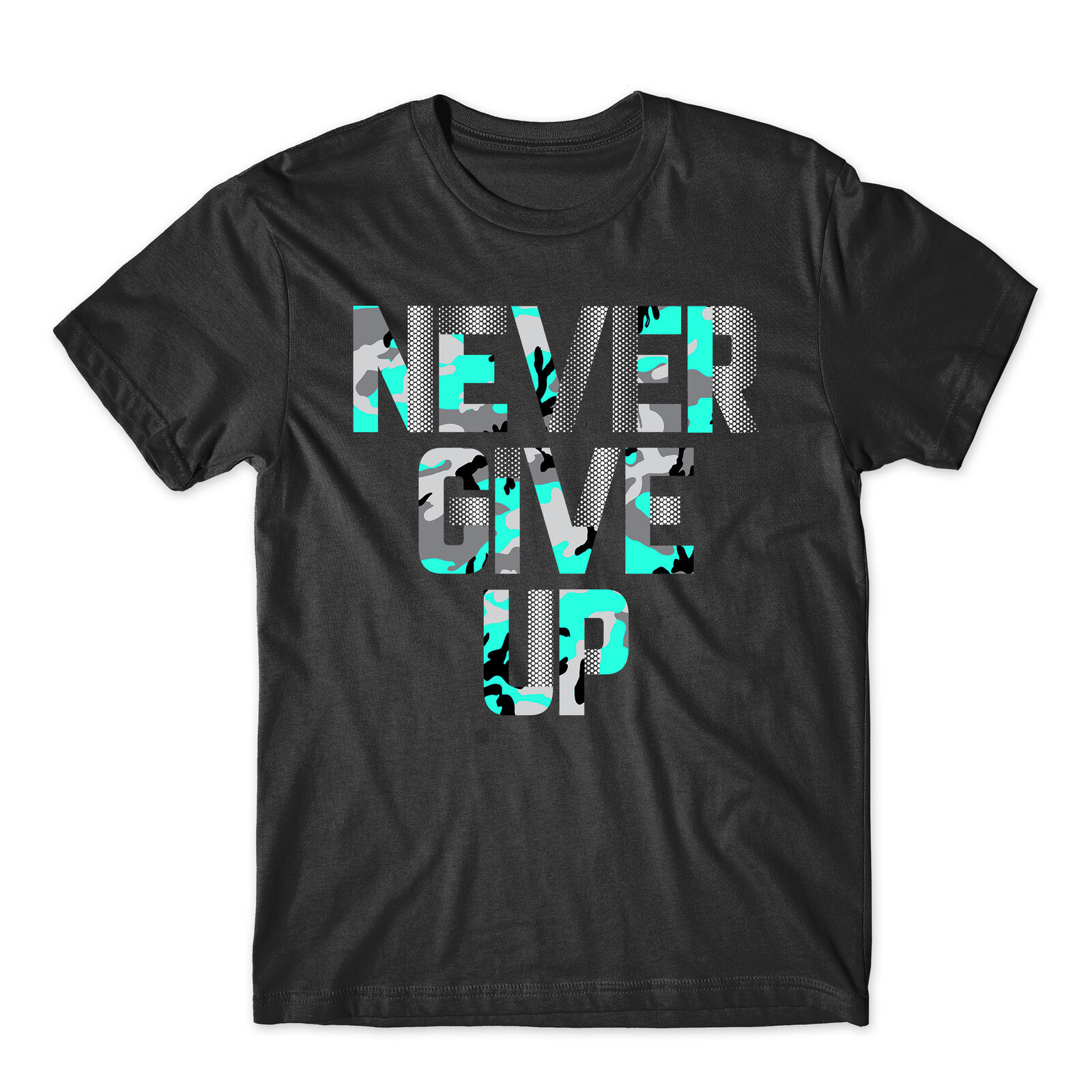 Nunca desista motivacional inspirador combinando camiseta superior