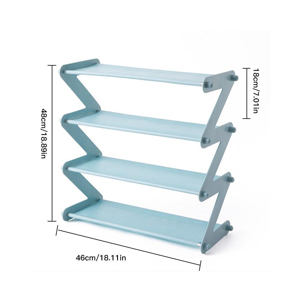 Купить с кэшбэком Multi-Layer Z-Shaped Shoes Rack Entrance Hall Stainless Steel Storage Shelf For Shoes Book Home Shoe Storage Rack Save Space