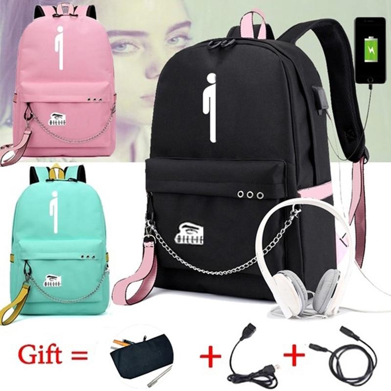 Mochila b-ill-ie-e-i-lis-h para mujer/hombre, mochilas de viaje para ordenador portátil, Mochila para adolescentes, Mochila de nailon Pusheen