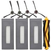 AD-Replacement аксессуары комплект совместим с Ecovacs Deebot Ozmo 930 Роботизированный пылесос, 1 основная щетка 3 высокая эффективность Fil