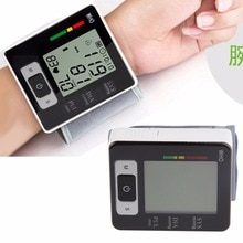 2018 Automatic Wrist Blood Pressure Upper Monitor Digital Heart Beat Meter LCD Screen Tonometer Sphygmomanometers pulsometer