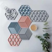 pvc mat anti scalding coaster non slip heat insulation placemat pot mat beverage coffee cup mat home decoration