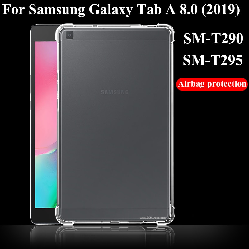 AliExpress - Tablet case for Samsung Galaxy Tab A 8.0 2019 Silicone soft shell TPU Airbag cover Transparent protection bag for SM-T290/T295