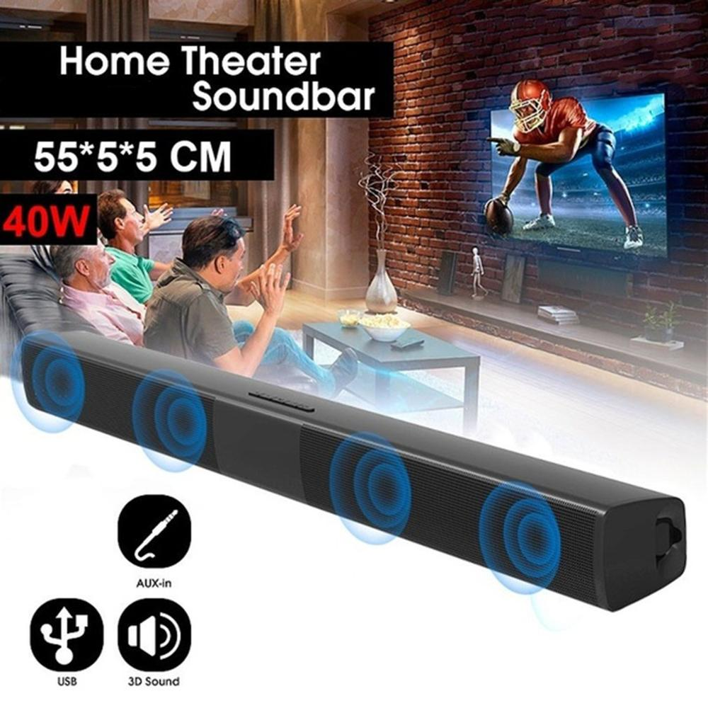 2021 New 40W Super Power Wireless Bluetooth-compatible Soundbar Speaker Home Theater TV soundbar subwoofe with Remote Control enlarge