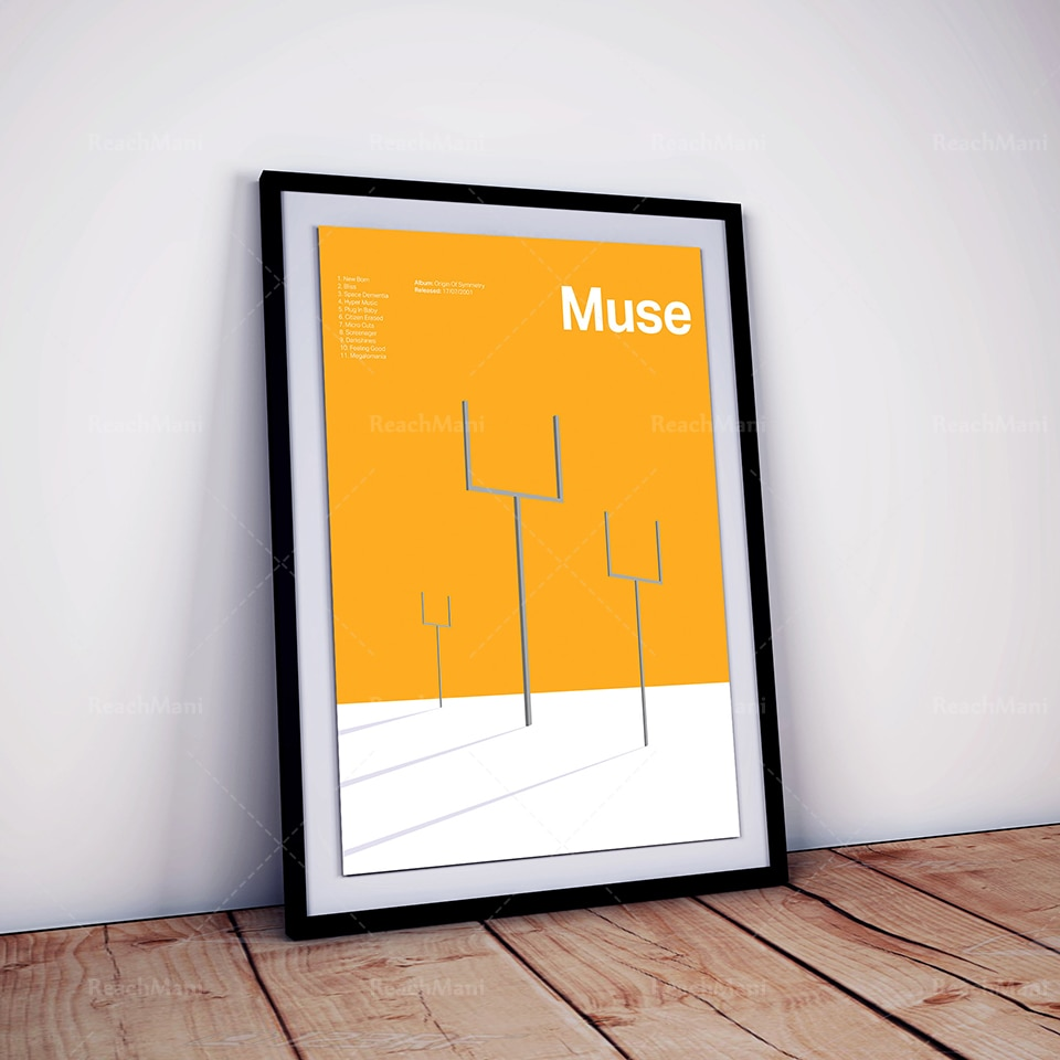 Muse , Muse постер с симметричными изображениями, Muse постер, Muse Art, Muse Print, музыкальный постер, музыкальная печать