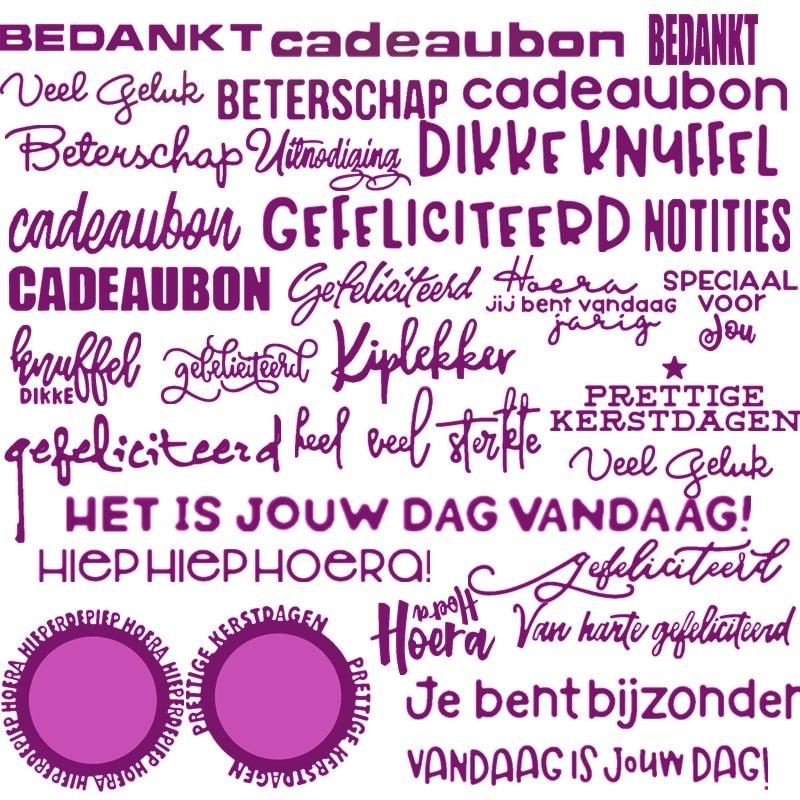 Palabras y frases en holandés troqueles para hacer tarjetas varias palabras y frases en holandés troqueles de recortes de metal troqueles nuevo 2019