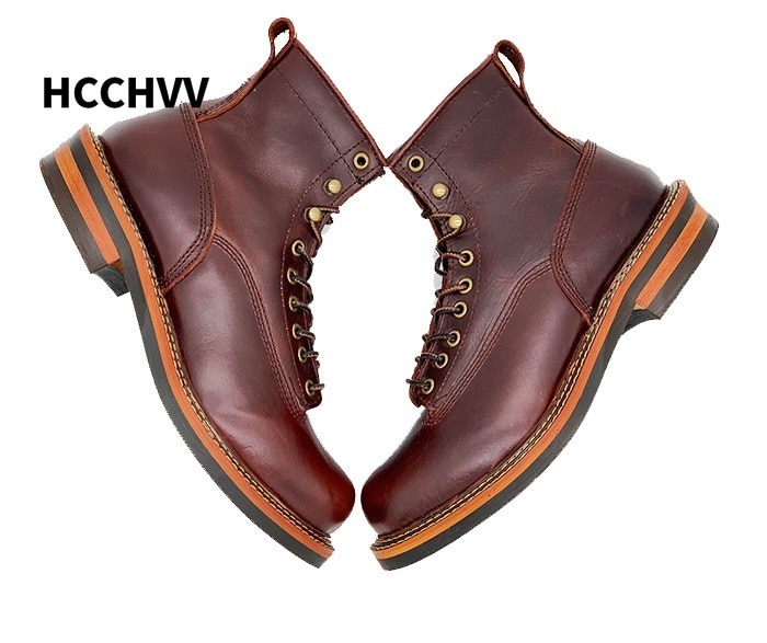 Men High Quality Brand Outdoor Genuine Leather Boots Special Desert Combat Boots Men's Designer Shoes Ankle
