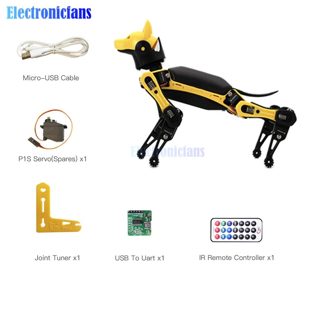 Open Source Programmable Intelligent Bionic Robot Dog Palm-sized Robot Dog Bionic Smart Robot Cool Toys for STEM DIY Robot Lover