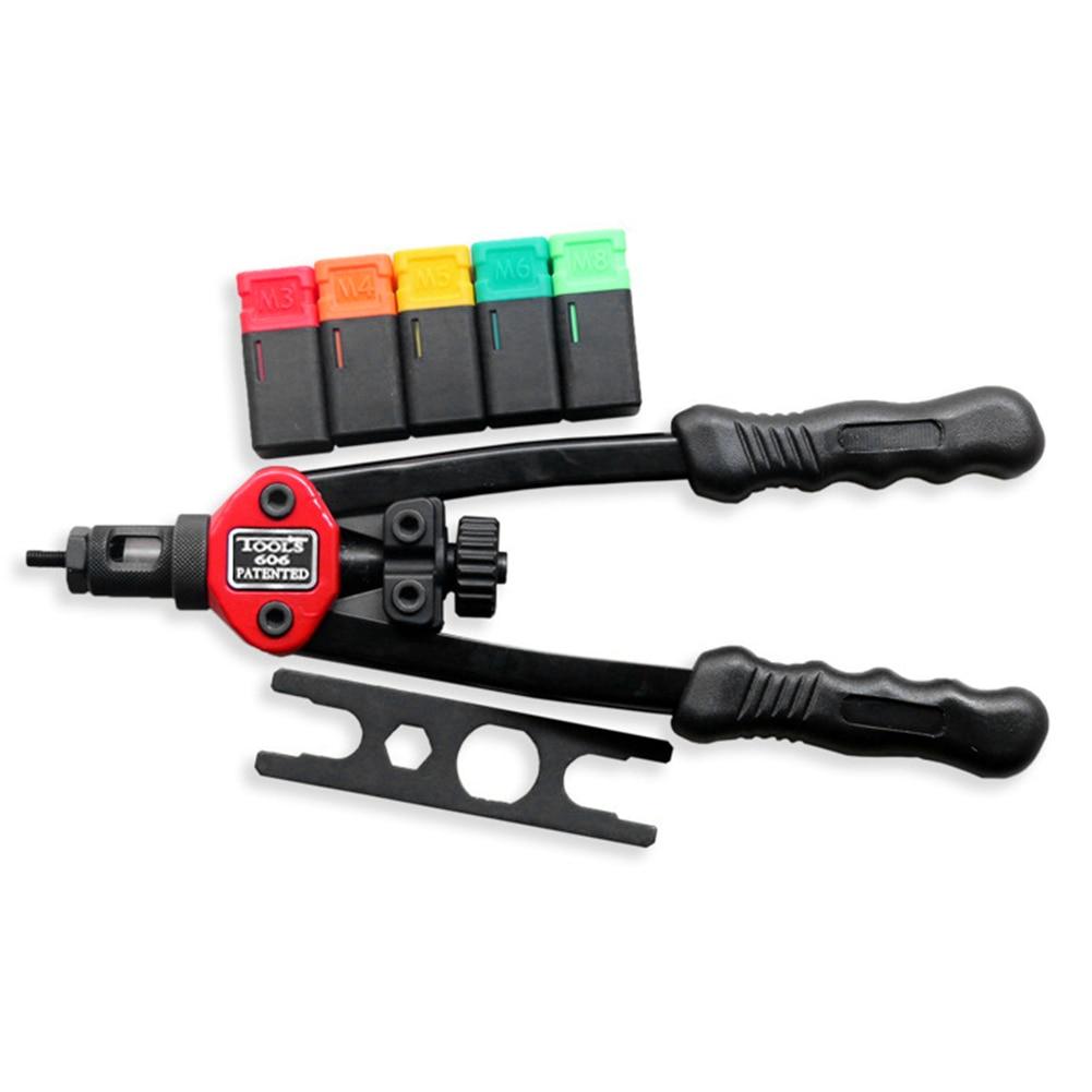 RIVET NUT TOOL Hand Blind Riveter Rivet Nut Gun Tool Mandrels Riveter Guns Rivet Gun Professional Setter Kit Modifications